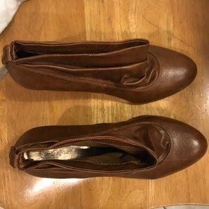 brown kitten heel Zara booties